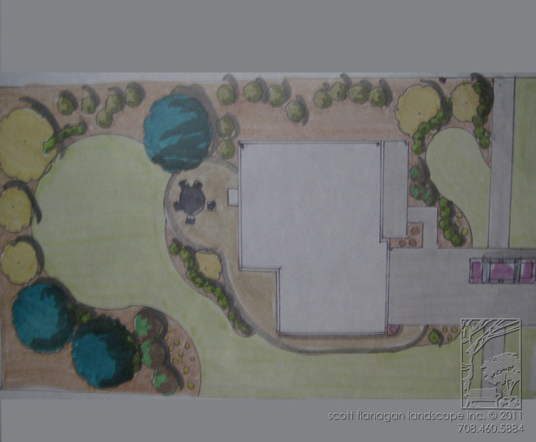 Marker Drawing Landscape Design