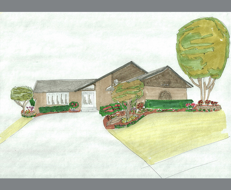Front Yard Landscape Drawing