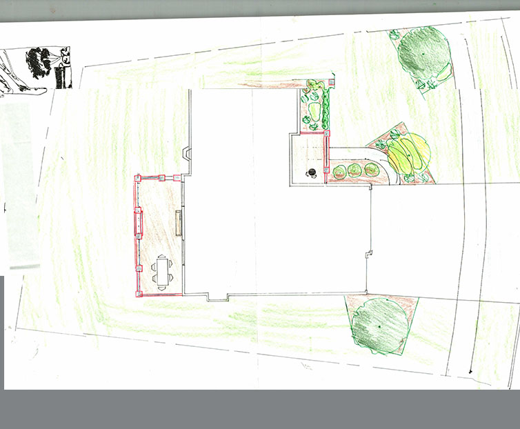 Color Pencil Design Landscaper
