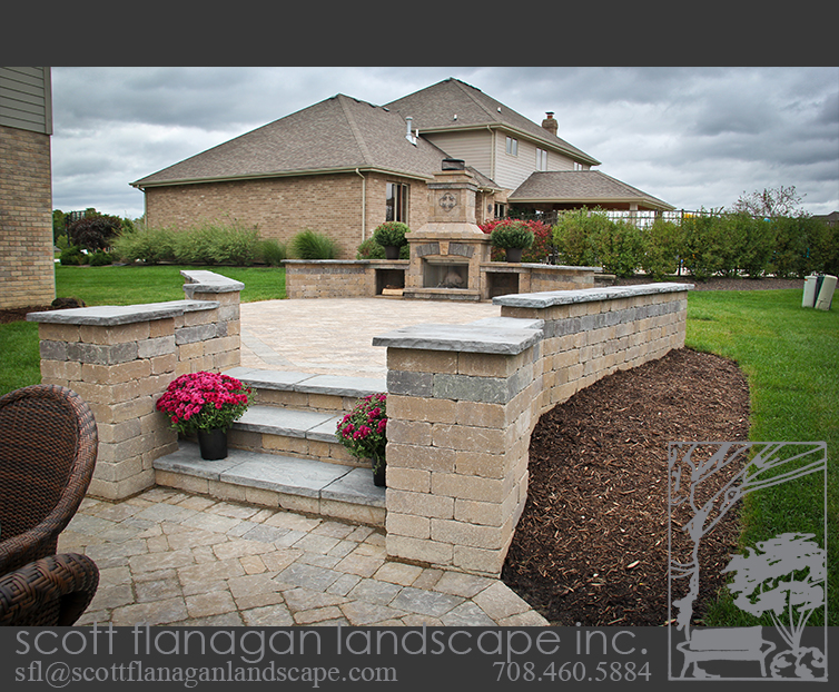 Elevated Brick Patio