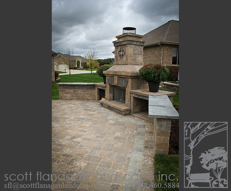 Outdoor Fireplace Mokena Landscape Designer