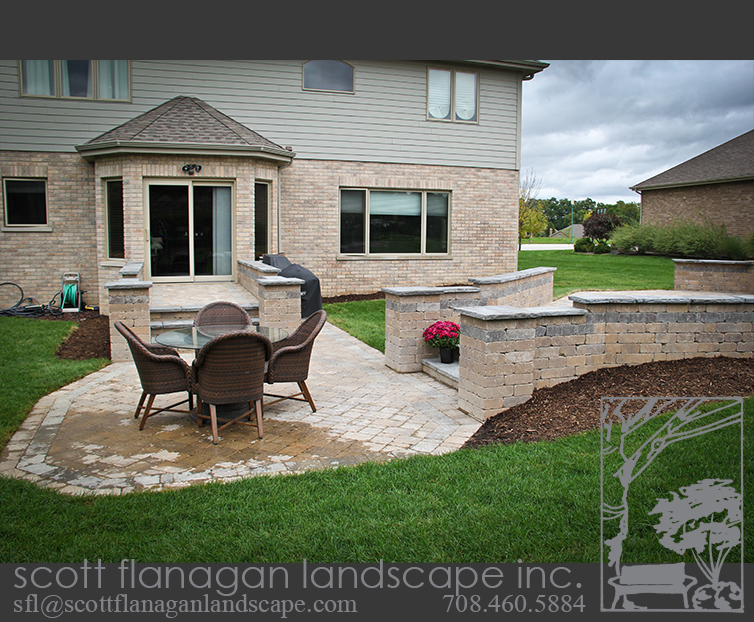 Raised Patios Landscape Designer