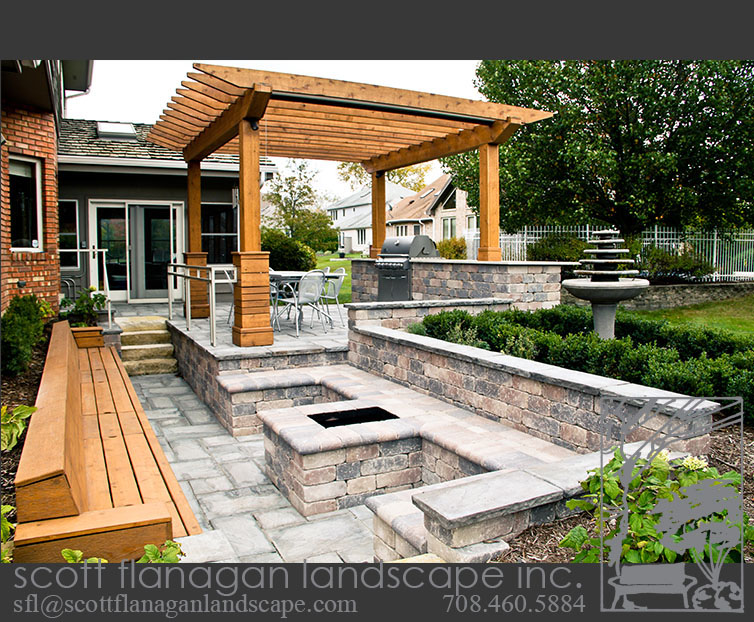 Exceptional Paver Patio With Pergola